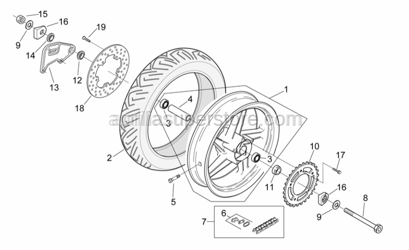 Aprilia - Chain ring Z=47