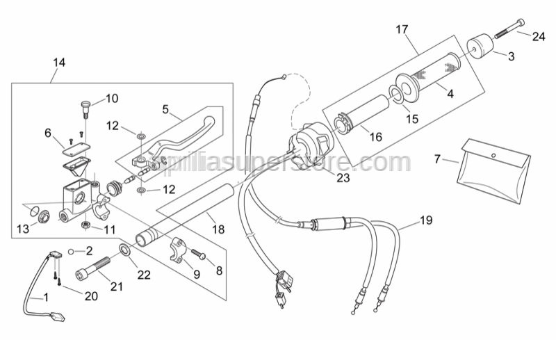 Aprilia - Front brake switch+harness