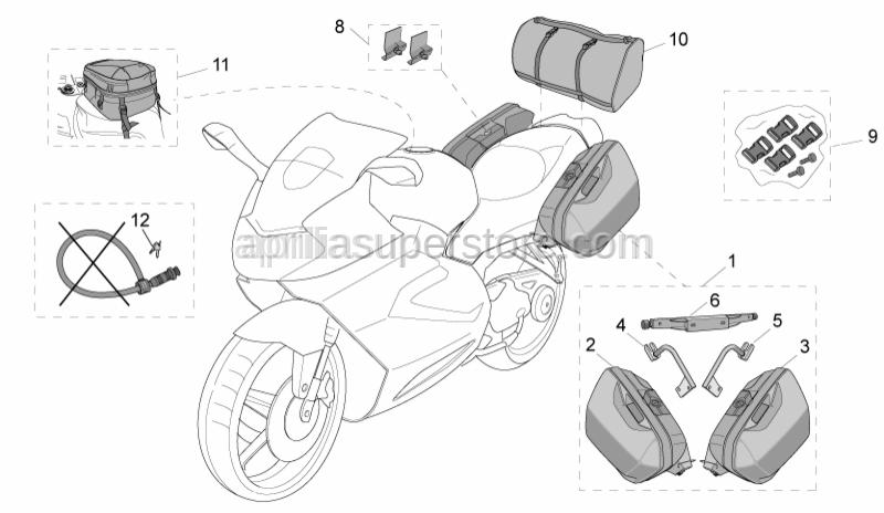Aprilia - Rear saddlebag