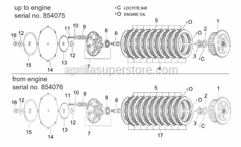 Aprilia - Steel clutch discs 10 pc.