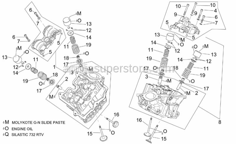 Aprilia - Intake valve guide