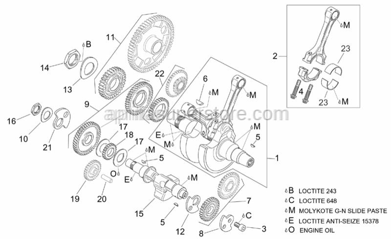 Aprilia - Connecting rod screw m10x1
