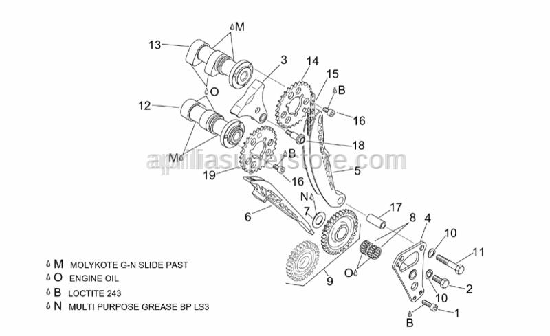 Aprilia - Timing system gear z=29
