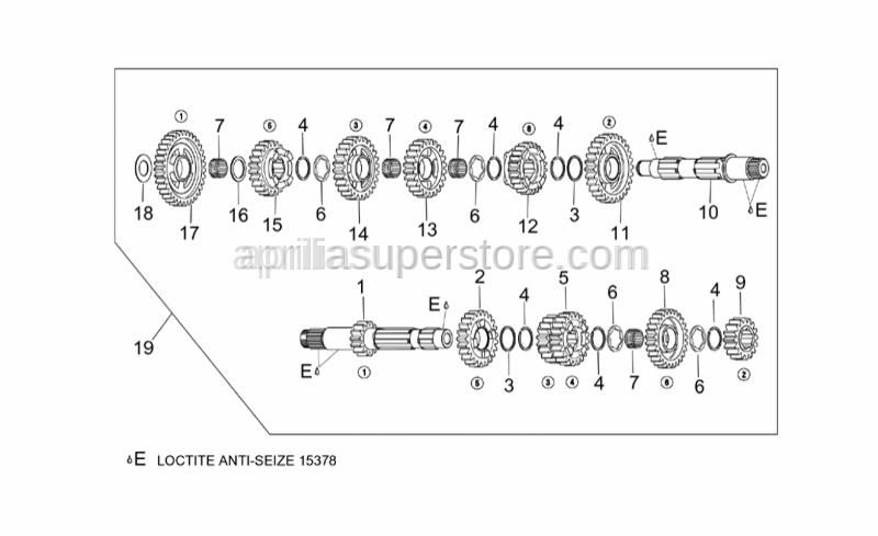 Aprilia - 5th wheel gear z=22