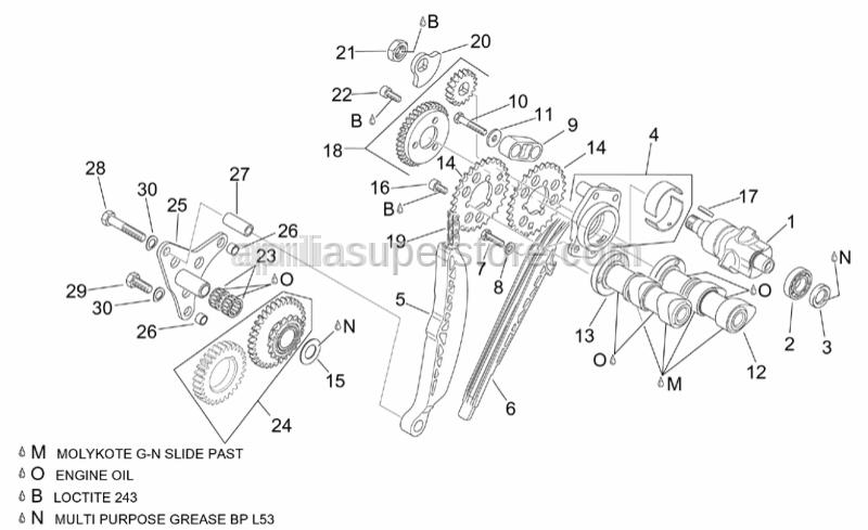 Aprilia - Hex socket screw m6x14