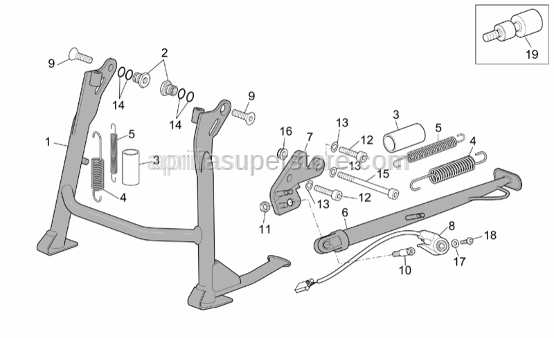 Aprilia - Central stand fixing screw