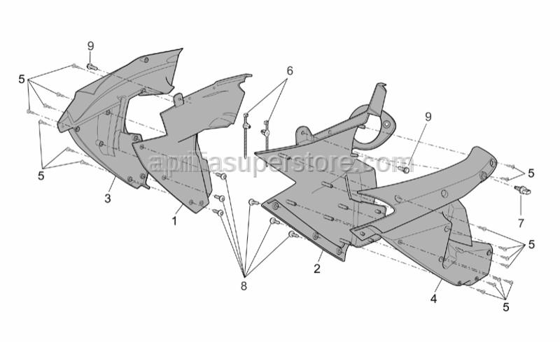 Aprilia - Screw w/ flange M5x12
