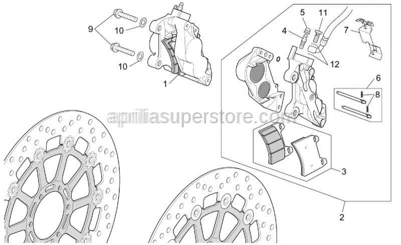 Aprilia - Screw w/ flange M10x1,25