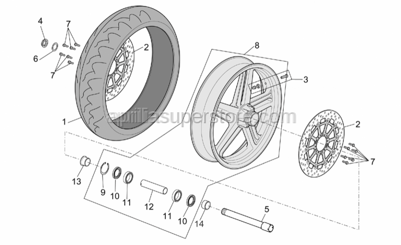 Aprilia - Front LH wheel spacer