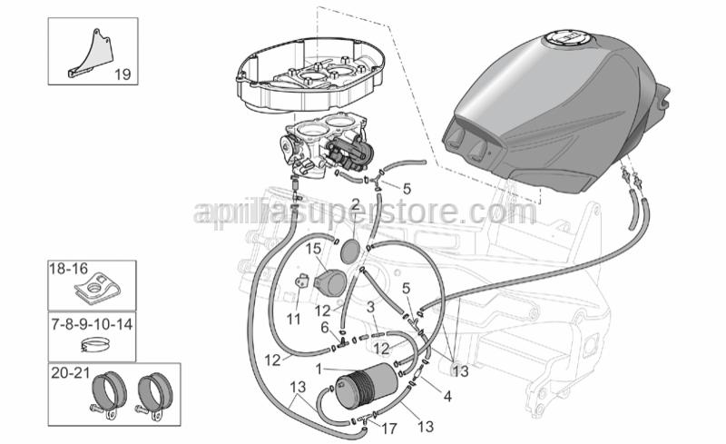 Aprilia - Support plate valve