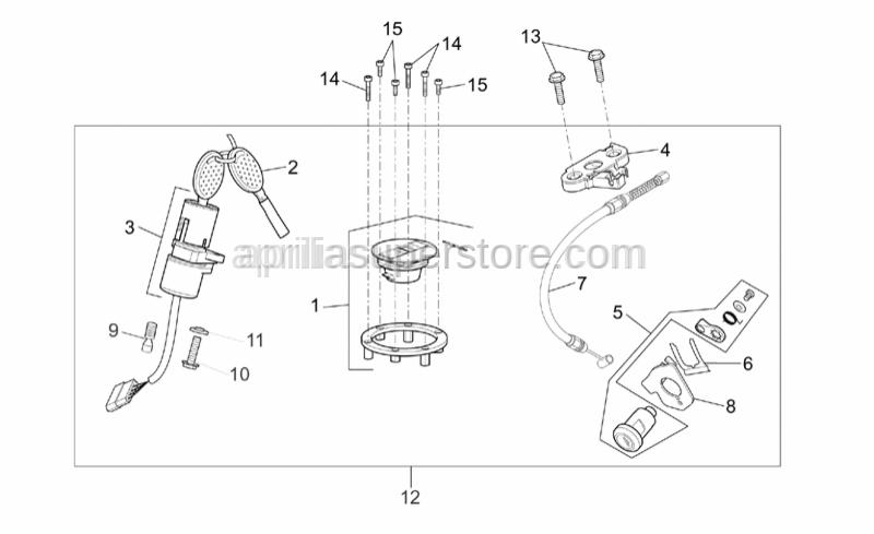 Aprilia - Cable fixing plate