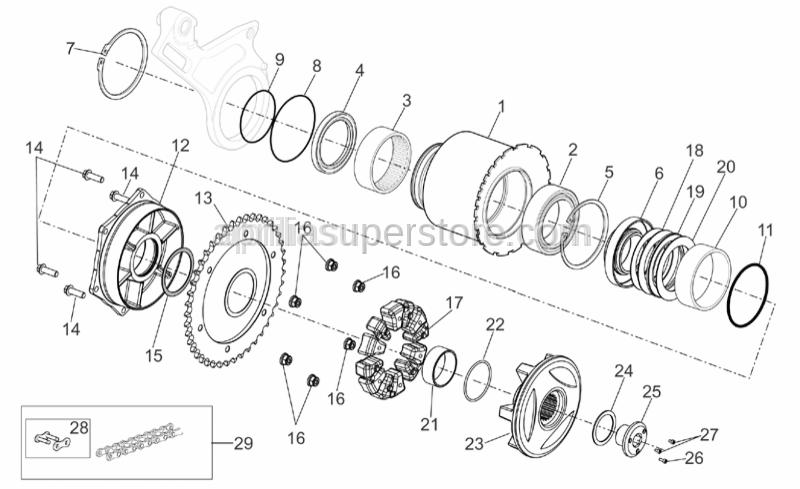 Aprilia - Thrust plate spacer