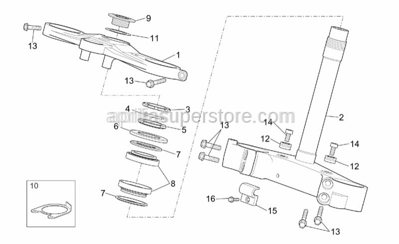 Aprilia - Hex socket screw M8x16