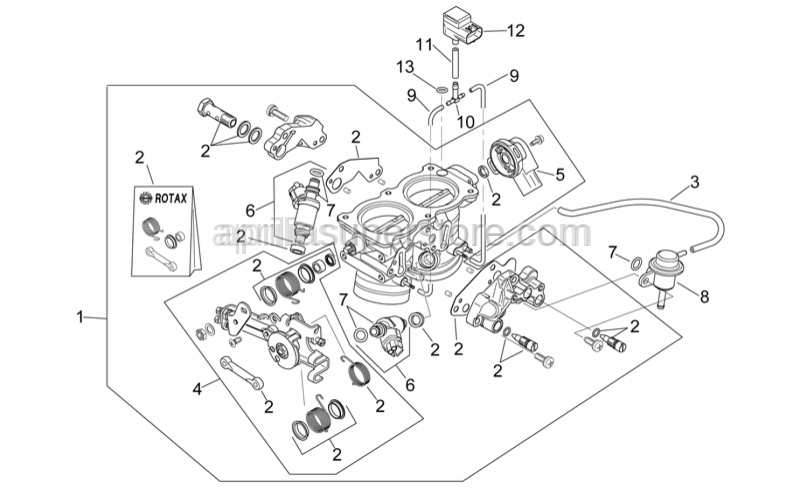 Aprilia - Injection valve cpl.