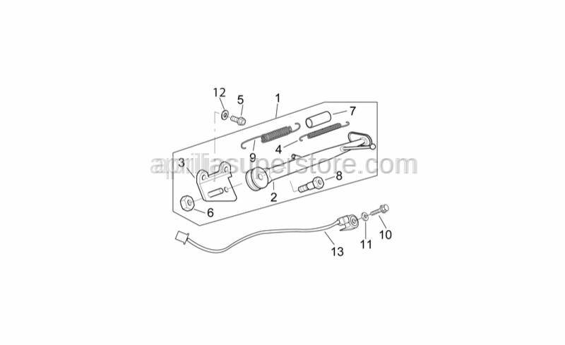 Aprilia - Screw w/ flange M10x30