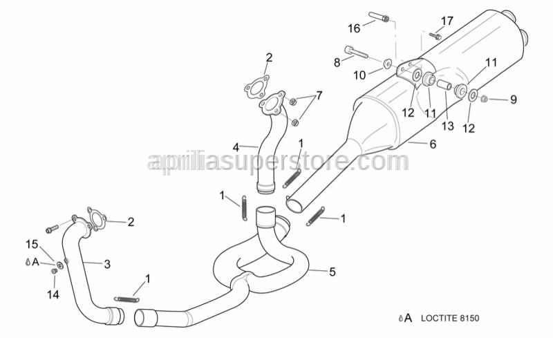 Aprilia - Exhaust pipes spring