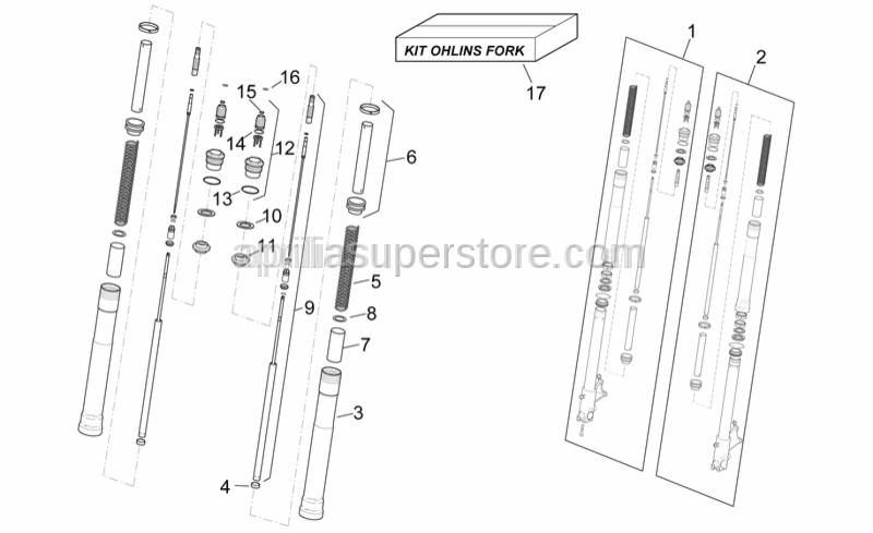 Aprilia - Ohlins front fork kit