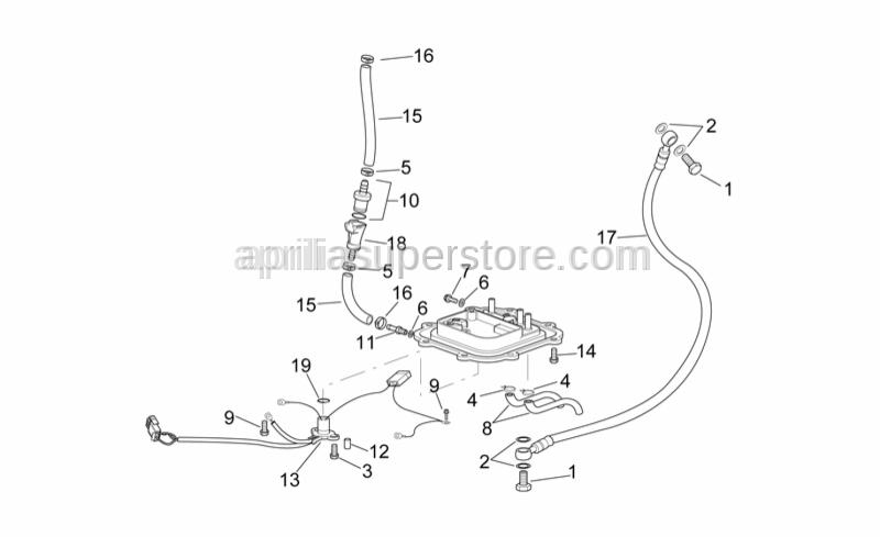 Aprilia - Hose clamp 12,5x8