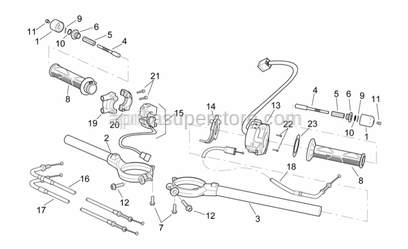 Aprilia - TSPEI inox screw M3x20