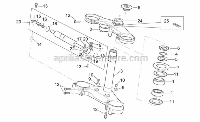Aprilia - Steering shockabs. collar