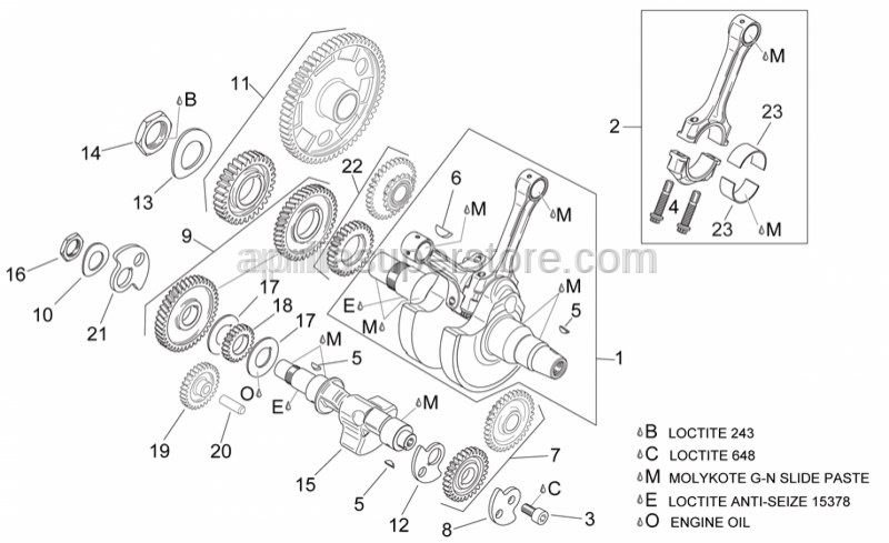 Aprilia - Lower balance shaft