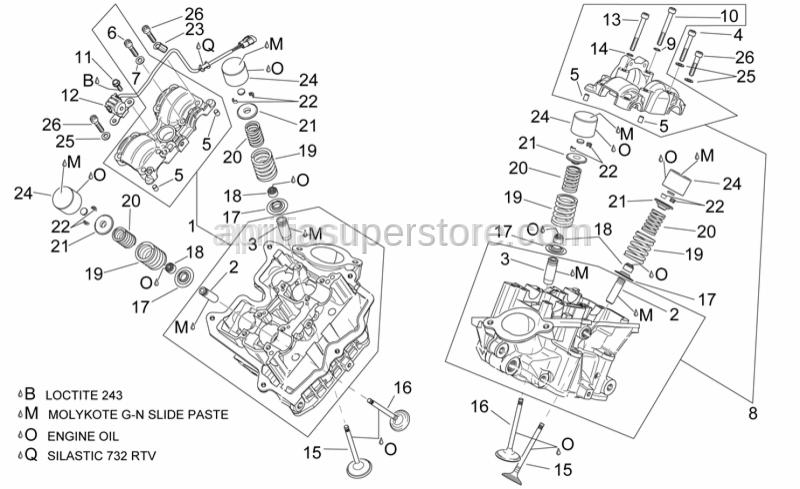 Aprilia - Self-tap screw M5x12