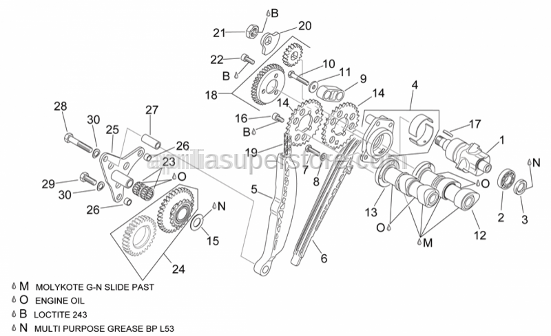 Aprilia - Transmission key 3x3,7