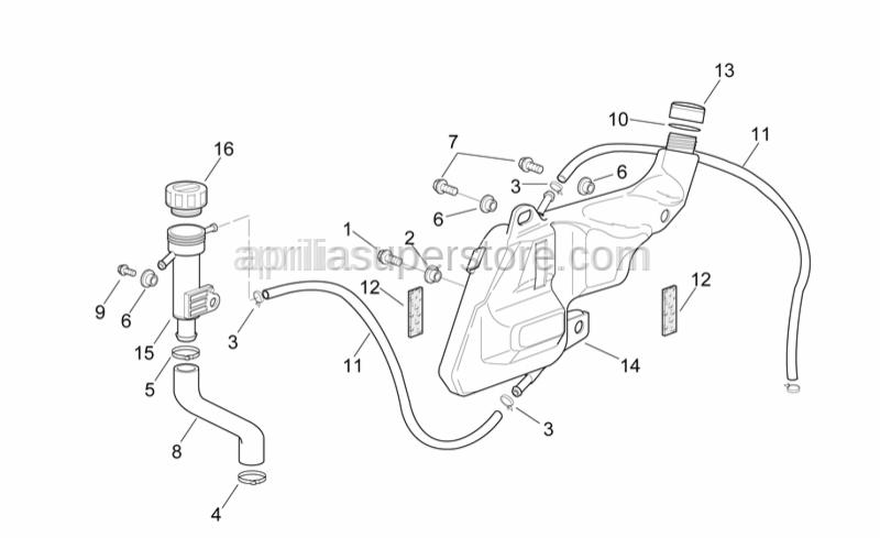 Aprilia - Pump-Inlet pipe