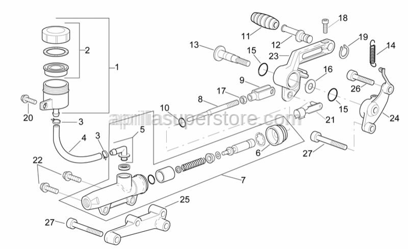 Aprilia - Master cylinder rod