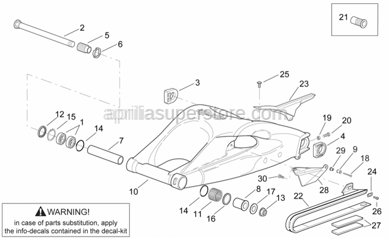 Aprilia - RH chain guide plate