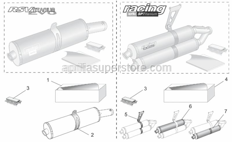 Aprilia - Soundproofing cartri.assy-pair
