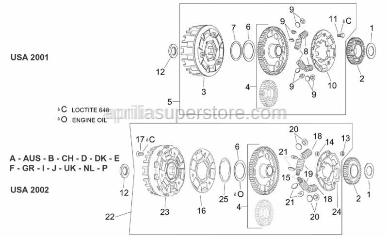 Aprilia - screw M8x25