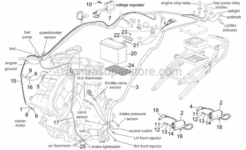 Aprilia - Battery support rubber
