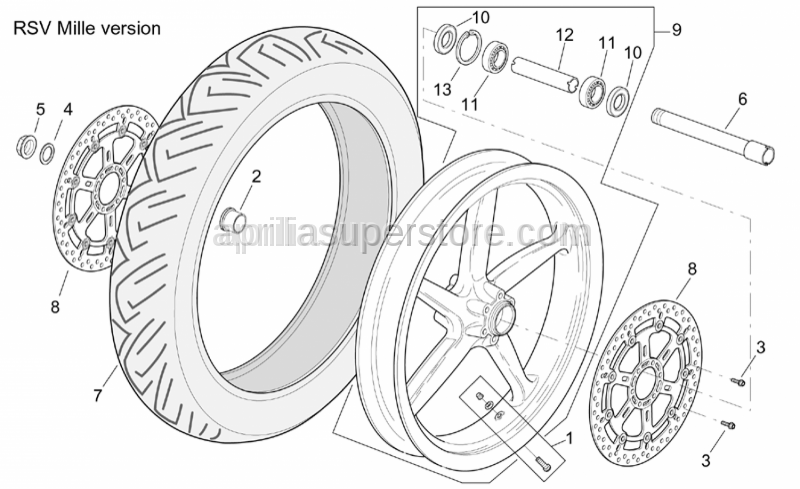 Aprilia - Front brake disc 320