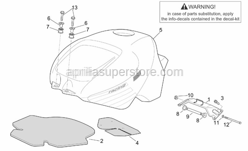 Aprilia - Washer 6,4x12,5*