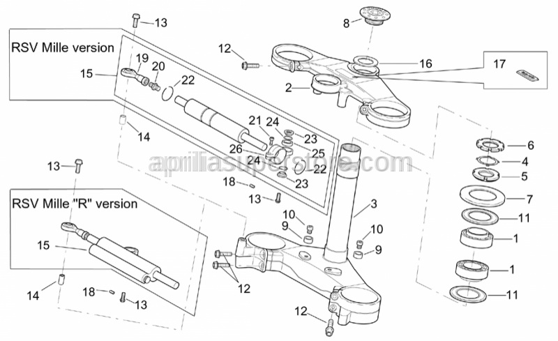 Aprilia - Steering shock absorber Sachs