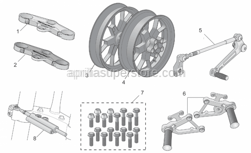 Aprilia - Screw kit, 16 screws Titan