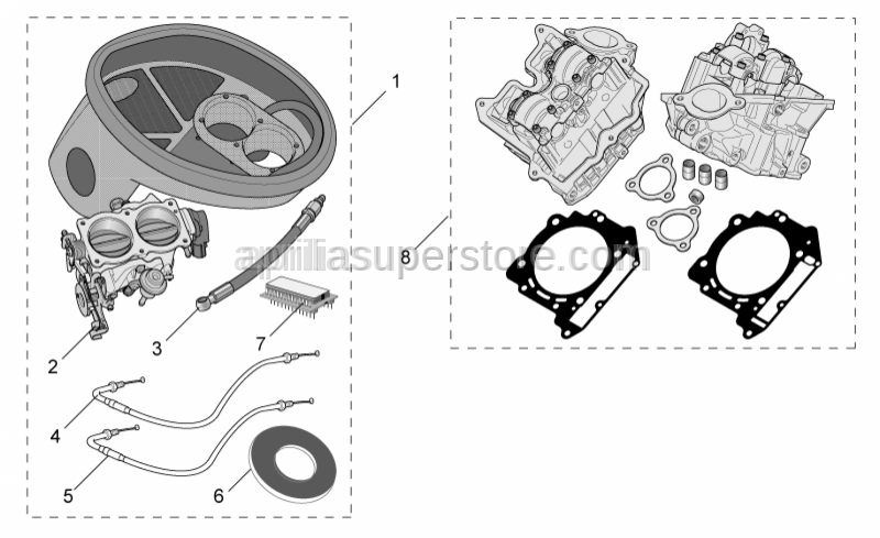 Aprilia - Throttle body cpl. D.57