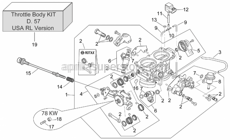 Aprilia - Throttle body revision kit