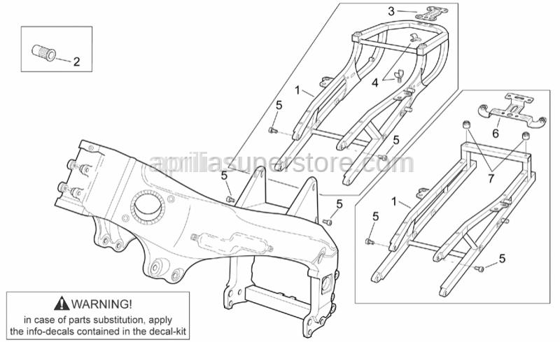 Aprilia - Rear fairing support