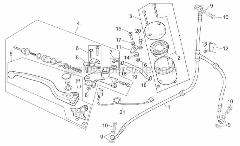 Aprilia - Pil brake tank plug
