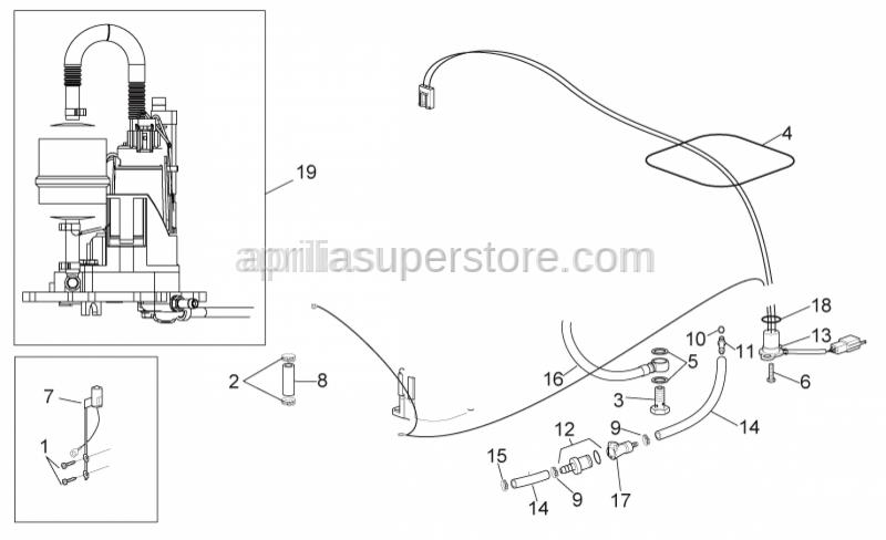 Aprilia - Fuel pump wiring