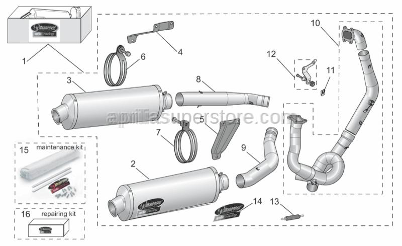 Aprilia - Cpl. Exhaust Fix kit