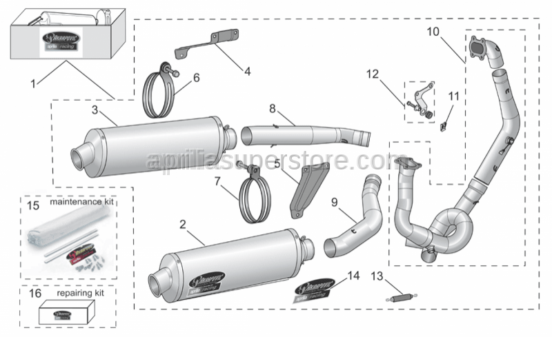 Aprilia - Silencer Repairing kit