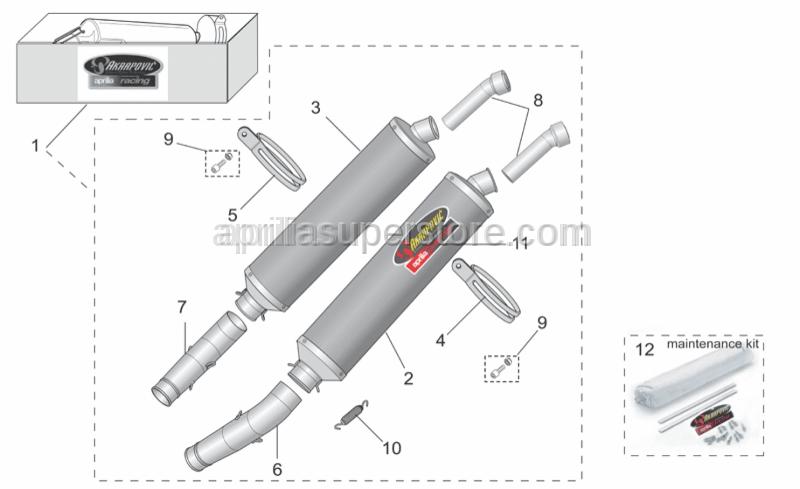 Aprilia - RH silencer support clamp