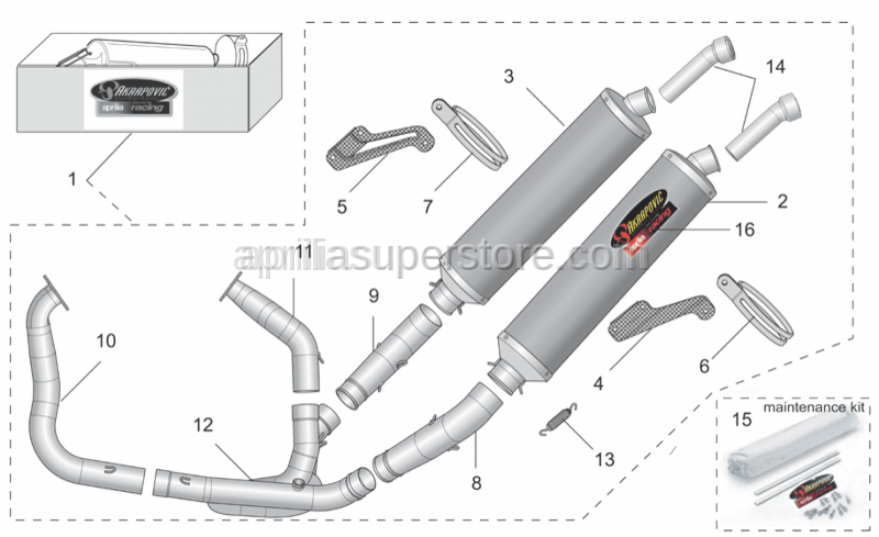 Aprilia - RH clamp Carb.