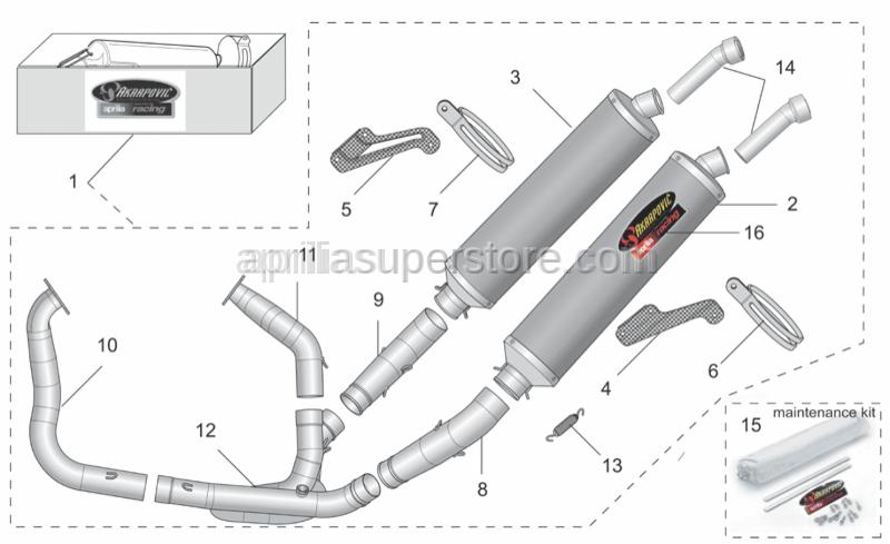 Aprilia - RH manifold pipe