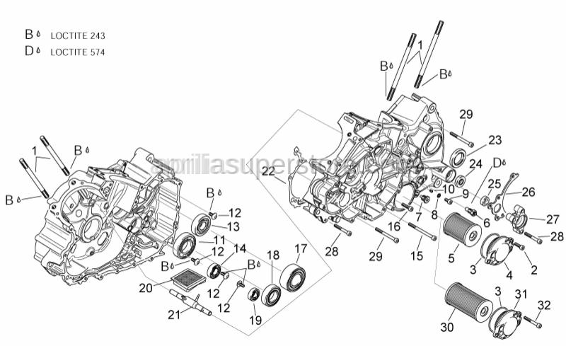 Aprilia - Stud bolt m10x171
