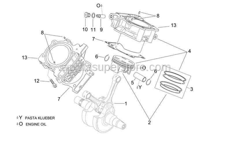 Aprilia - Piston assy 96,941 mm (A)