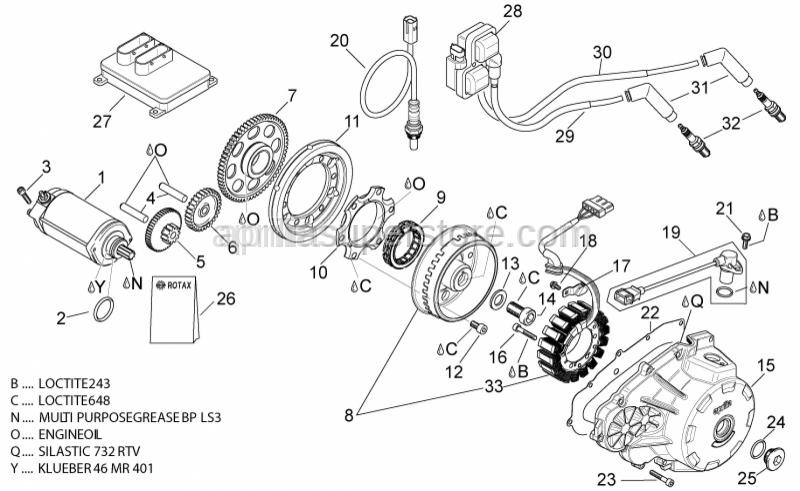 Aprilia - Hex socket screw M6x40